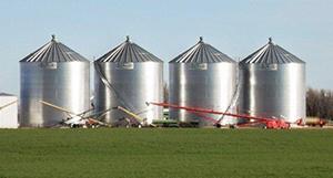 non-stiffened grain bins